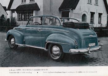 1951 opel olympia cabrio coach