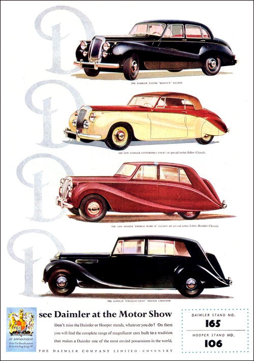 1952 Daimler range advert