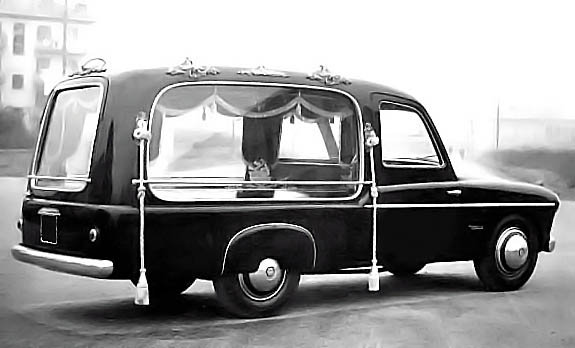 1953 Accossato Fiat 1400 carro funebre Michelotti Hearse