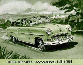 1953 opel olympia cabriolet