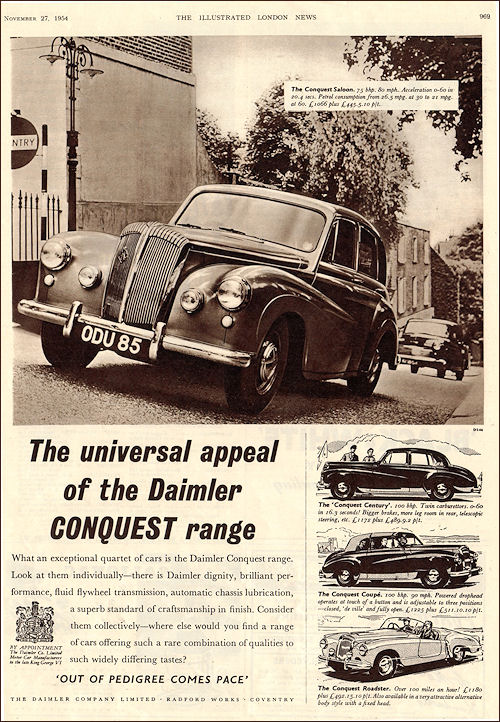 1954 Daimler conquest century