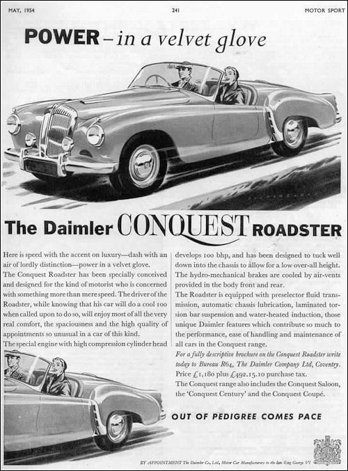 1955 Daimler conquest roadster
