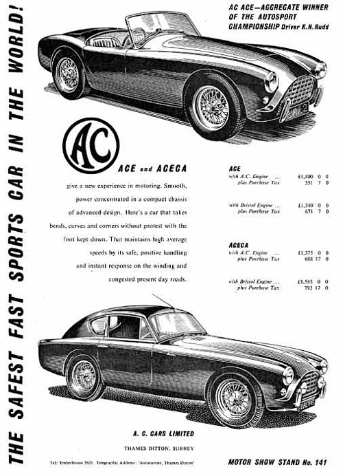 1956 AC advert