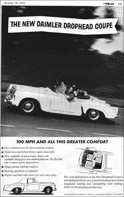 1956 Daimler conquest century roadster