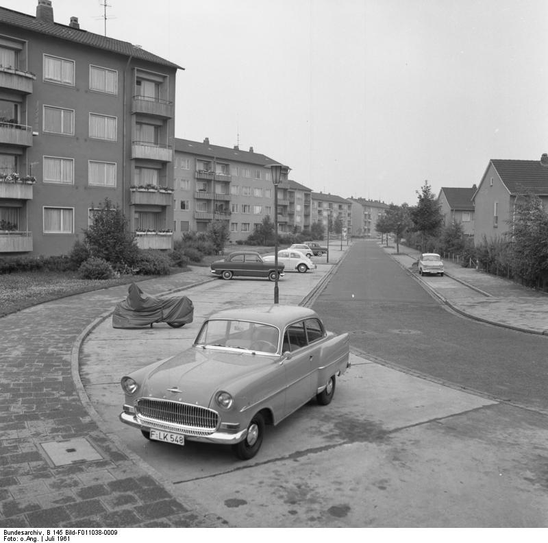 Wohnungsbau: Frankfurt/Main, Albert Schweitzer-Siedlung 17. - 20. Juli 1961