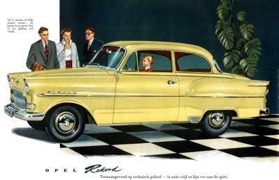 1957 Opel Rekord Reclame