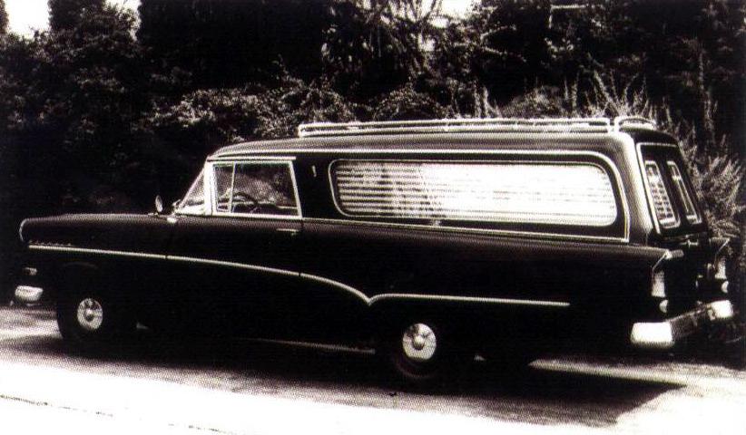 1958 Opel Rekord P1 Welsch Lijkwagen