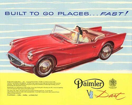 1960 Daimler dart lhd centre l59