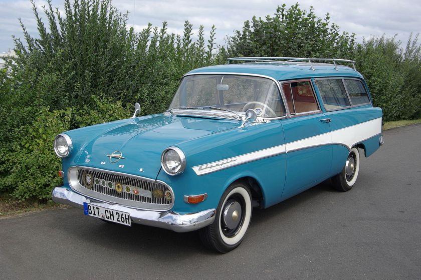 1960 Opel Olympia Rekord P1 1500 Caravan, 1488 cc, 4 cylinder, 45 hp, original condition.