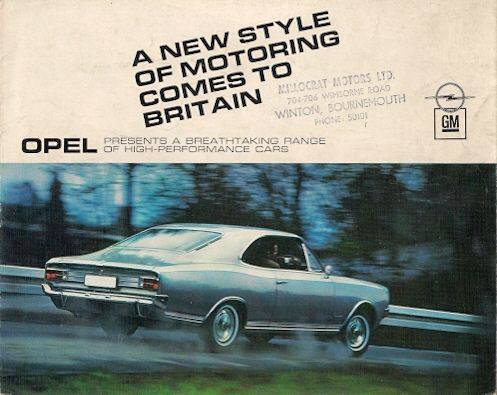 1967 Opel Rekord Coupé Ad