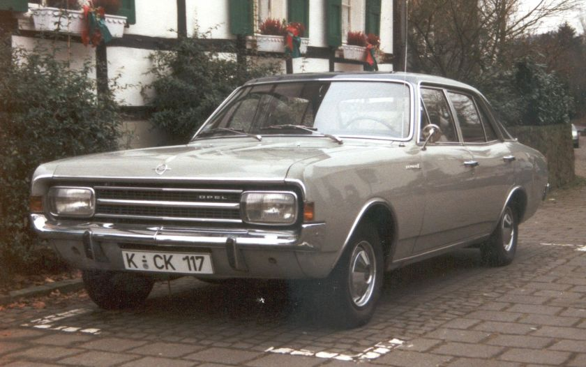 1968 Opel Rekord C 1.7 S 4-door saloon, two colour version