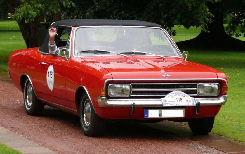 1970 Opel Rekord C 1700 Deutsch Cabriolet