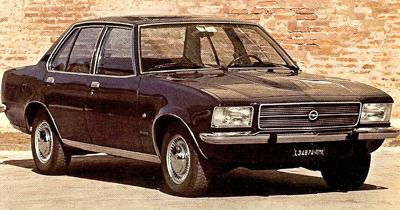 1972 Opel Rekord, powered by a 2100cc diesel and sharing the same body as the Commodore sedan