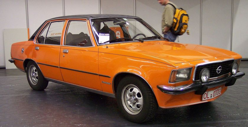 1972–77 Opel Commodore vr orange B TCE