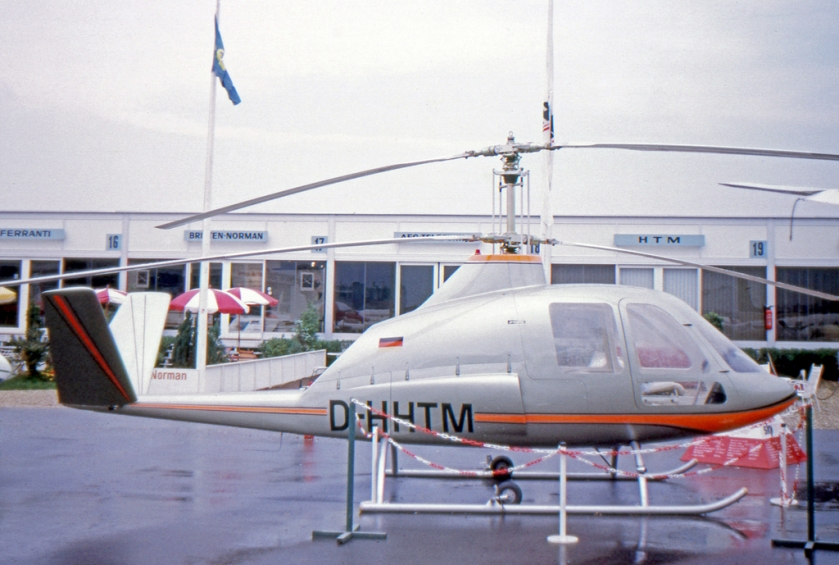 1973 HTM Skyrider D-HHTM exhibited at the 1973 Paris Air Show