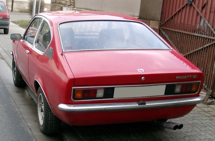 1973 Opel Kadett 1,2 C Coupe rear