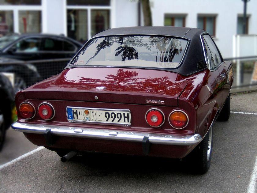 1974 Opel Manta A rear