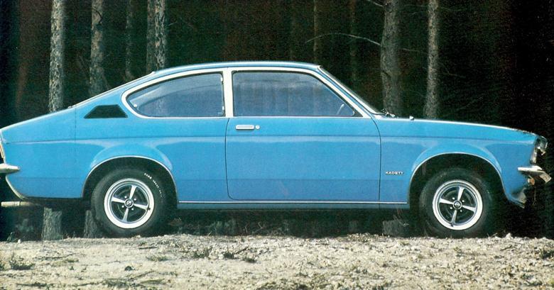 1975 Opel Kadett Coupe.