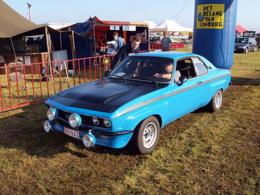 1975 Opel Manta TE2800, Belgian