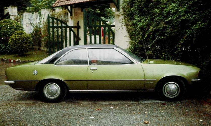 1975 Opel Rekord D 2d Coupé Green
