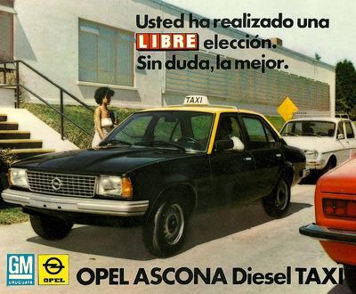 1978 Opel Ascona Diesel Taxi