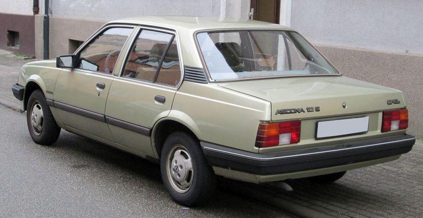 1981–1988 Opel Ascona C rear