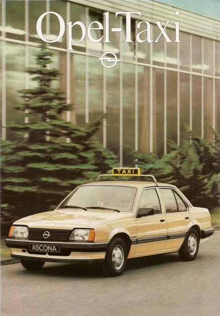 1982 Opel Ascona taxi Brochure