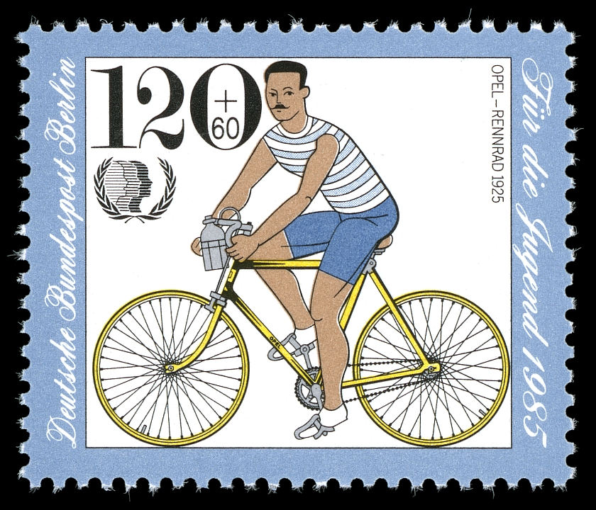 1985 Stamps of Germany (Berlin)Opel Rennrad 1925