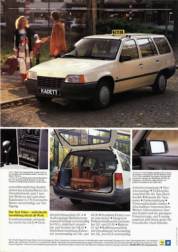 1987 Opel kadett taxi
