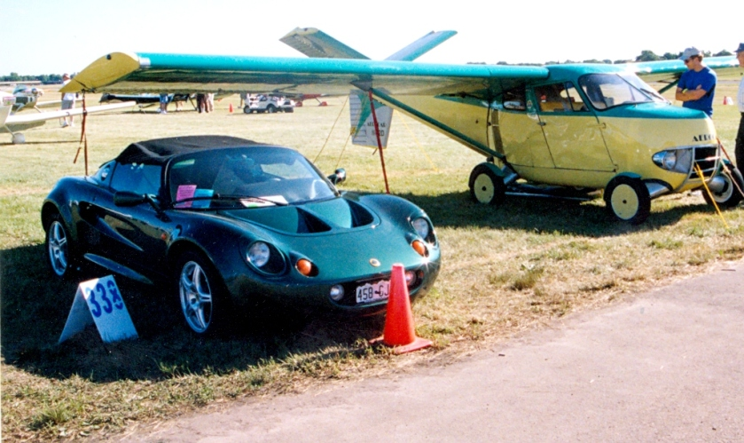 2002 Aerocar 2000 next to Lotus