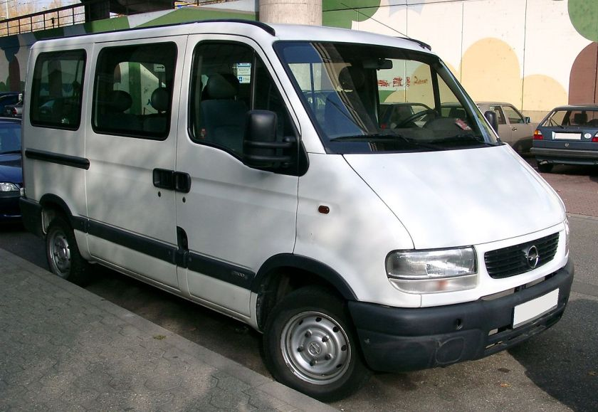 2007 Opel Movano A (pre-facelift), low roof, short-wheelbase minibus