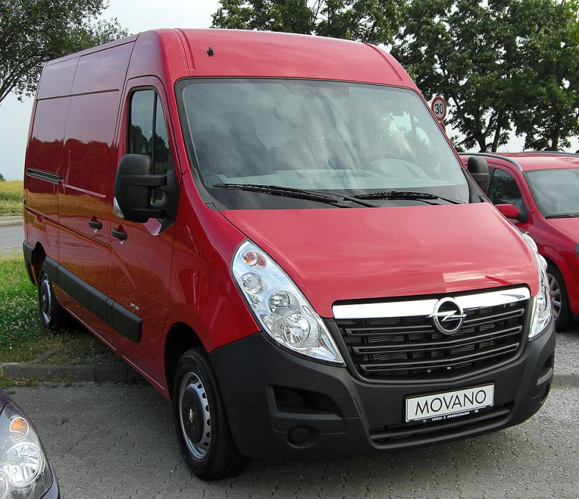 2010 Opel Movano B medium roof, long wheelbase panel van