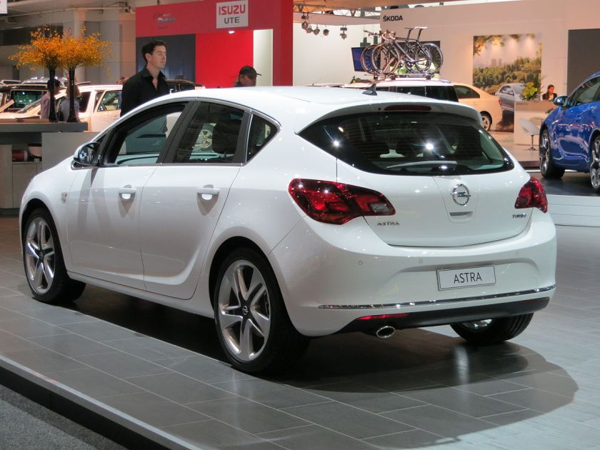 2012 Opel Astra (AS) Sport 5-door hatchback, photographed at the 2012 Australian International Motor Show, Sydney, New South Wales, Australia