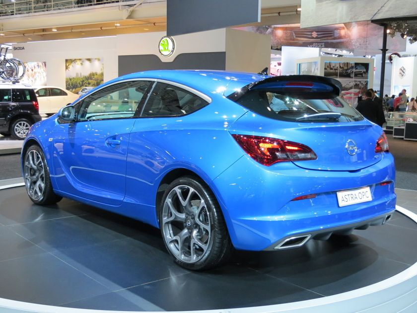 2012 Opel Astra J (AS) OPC 3-door hatchback rear