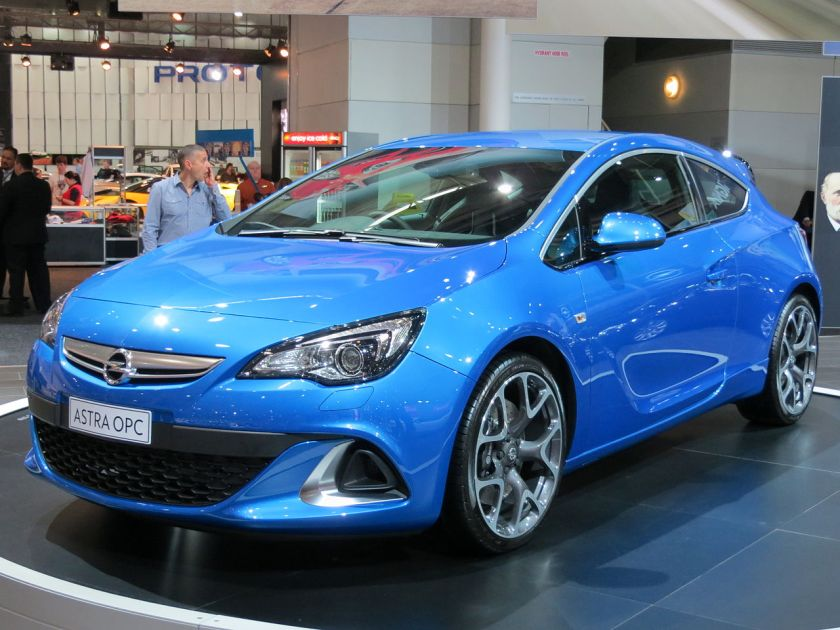 2012 Opel Astra J (AS) OPC 3-door hatchback