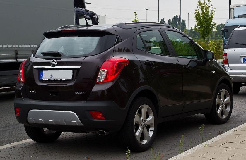 2012–present Opel Mokka ecoFLEX Edition rear