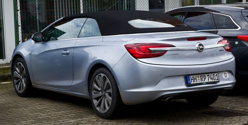 2013–present Opel Cascada 1.6 EDIT Innovation rear