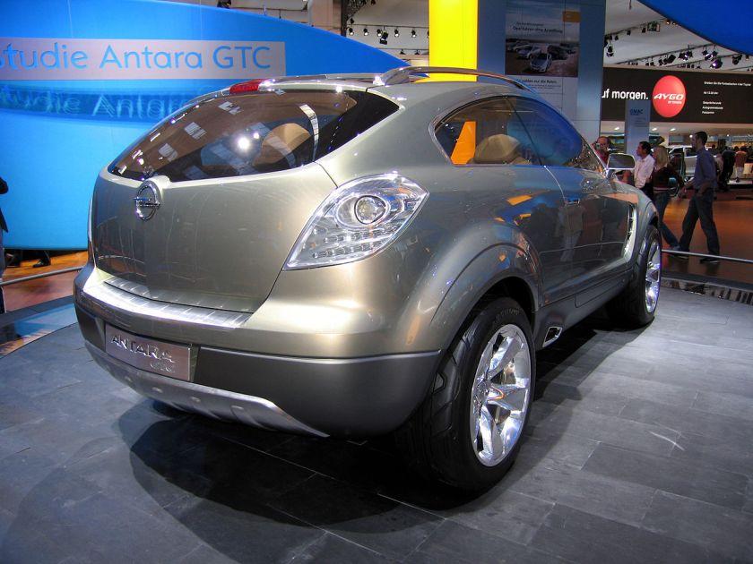2015 Opel Antara GTC rear concept