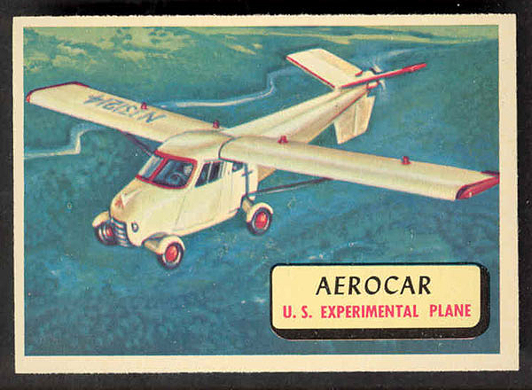 Aerocar Bubble Gum Card - Topps 67A-g