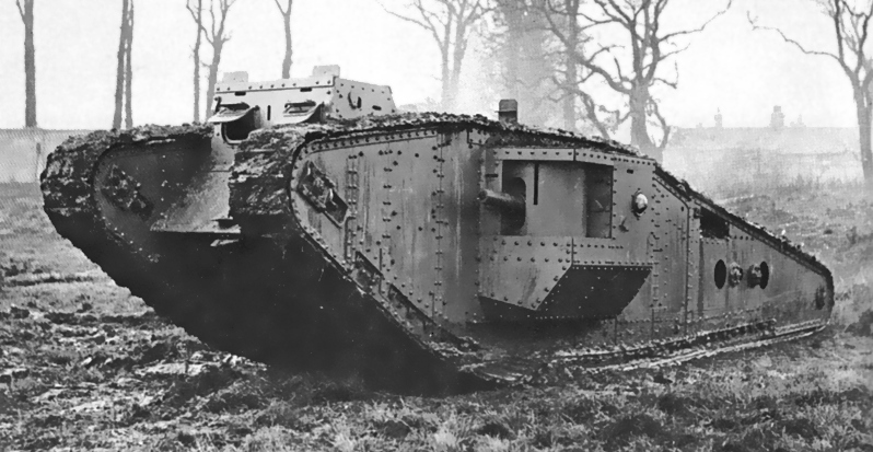 British_Mark_IV_Tadpole_tank daimler 105 hp engine