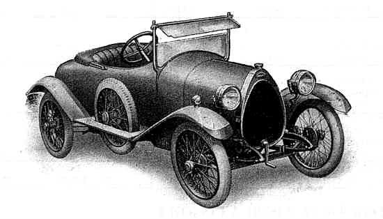 Crossley Bugatti in two-seater form