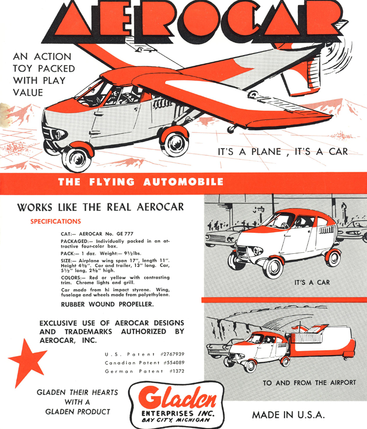 Gladden Aerocar Model sales literature-g