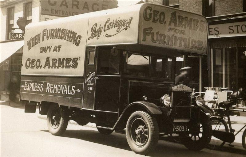 Overland Crossley Manchester Removal Van