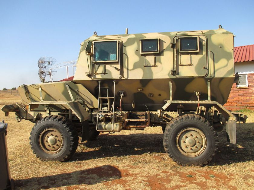 Rhino mine-protected APC at Air Force Base Swartkop.