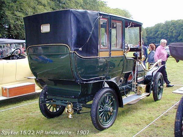 1907 Spyker 15-22 HP Landaulette b