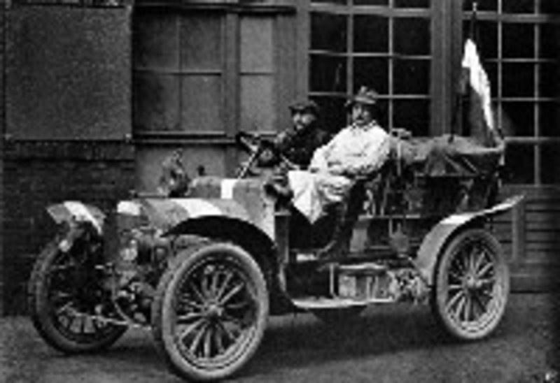 1907 Spyker die deelnam aan Peking-Parijs