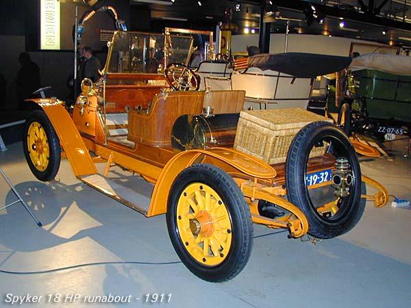 1911 Spijker 18 HP runabout a