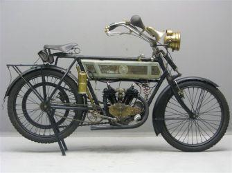 1914 Alcyon 350 cc V-twin zijklepper