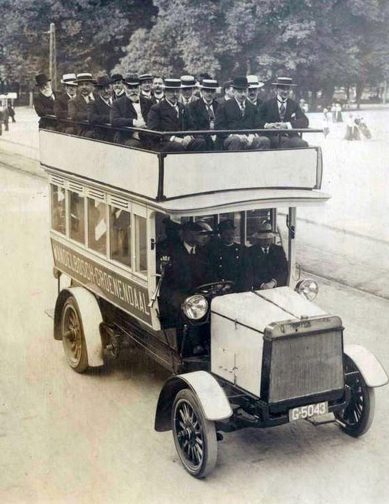 1915 Spyker dubbeldeksbus groenendaalbus1915
