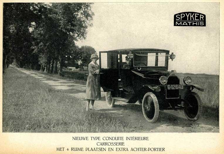 1921-22 Spyker-Mathis (F-NL) - Trompenburg, Amsterdam